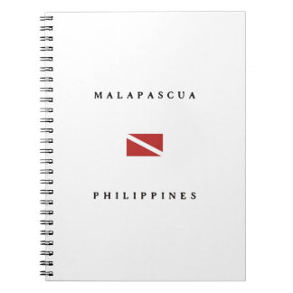Malapascuaフィリピンのスキューバ飛び込みの旗 ノートブック
