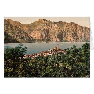 Malcesine、Gardaの湖の、イタリアのヴィンテージPhotochro カード
