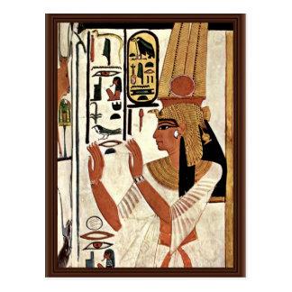 Maler Der著祈りの言葉のスタンスのNefertari女王 ポストカード