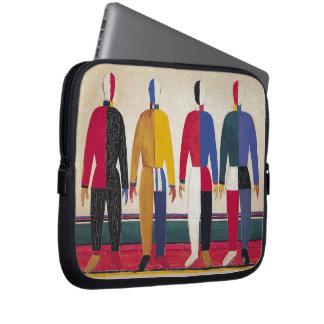 "Malevich幾何学的な抽象美術""スポーツマン"" ラップトップスリーブ"
