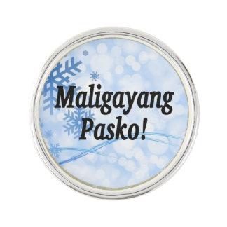 Maligayang Pasko! タガログ人bfのメリークリスマス ラペルピン