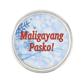 Maligayang Pasko! タガログ語rfのメリークリスマス ラペルピン
