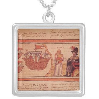 Malincheインドの王女かMarina夫人 シルバープレートネックレス