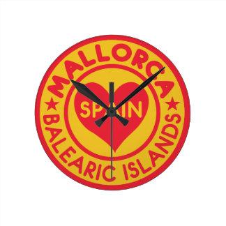 MALLORCAスペインの柱時計 ラウンド壁時計