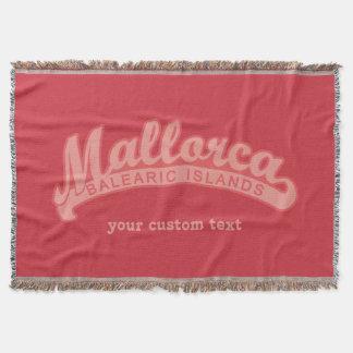 MALLORCAスペインカスタムな文字及び色の投球毛布 スローブランケット