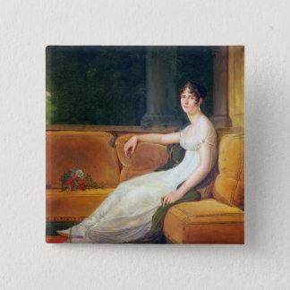 Malmaison、c.1801の皇后Josephine 5.1cm 正方形バッジ