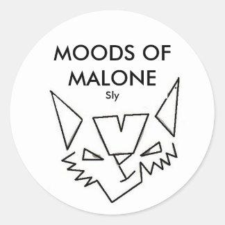 MALONEのステッカーの気分 ラウンドシール