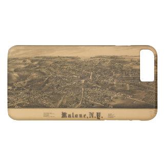 Malone、ニューヨーク(1886年)の空中写真 iPhone 8 Plus/7 Plusケース