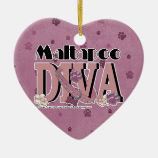 MaltaPooの花型女性歌手 セラミックオーナメント