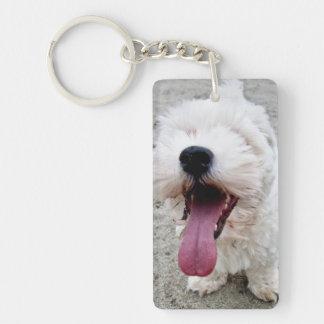 Malteeseの幸せな子犬 キーホルダー