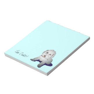 Maltipooのかわいい子犬 ノートパッド