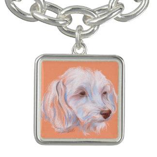 Maltipoo犬のパステルの芸術 チャームブレス