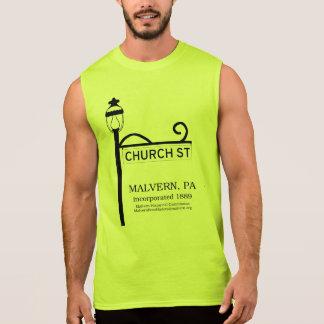 Malvern PA -教会通りのTシャツ 袖なしシャツ