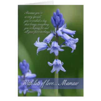 Mamawのバースデー・カード-すごいマクロBluebells カード