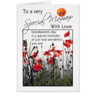 Mamawの祖父母日カード-野生のケシ カード