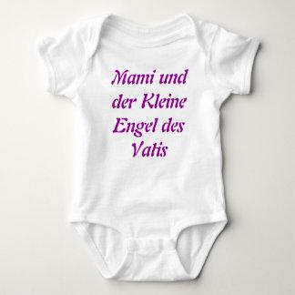MamiのundのderのクレインEngel des Vatisのドイツのonsie ベビーボディスーツ