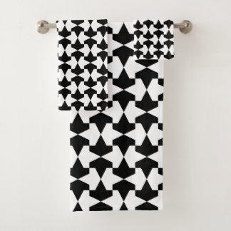 Mamluksクラシックな白黒パターン バスタオルセット