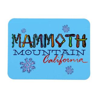 Mammoth Mountainカリフォルニアのスノーボードの磁石 マグネット