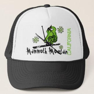 Mammoth Mountainカリフォルニアの緑のスキーヤーの帽子 キャップ