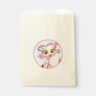 MAMZELLのかわいい漫画の   バッグのベージュ色の好意 フェイバーバッグ