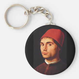 Man', Antonelloのda_Portraitsのポートレート キーホルダー
