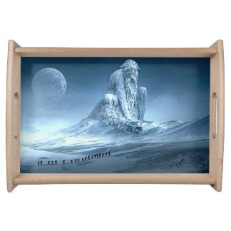 Man in the Mountain Fantasy Sculpture トレー