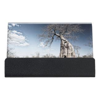 ManaのBaobabの木は国立公園、ジンバブエを分かち合います デスク名刺ホルダー