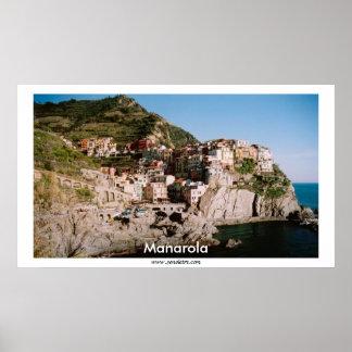 Manarolaの全景 ポスター