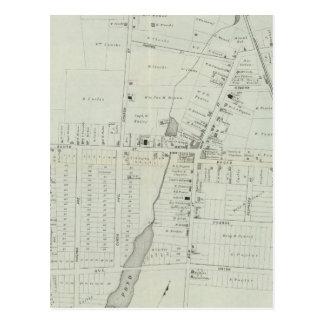 Manasquan、ニュージャージーの地図 ポストカード