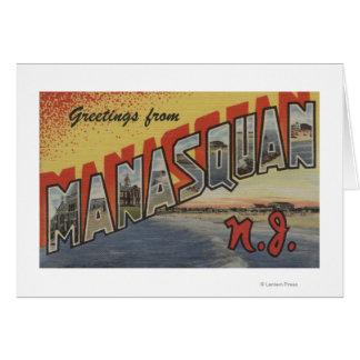 Manasquan、ニュージャージー-大きい手紙場面2 カード