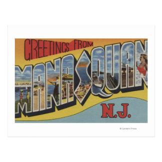 Manasquan、ニュージャージー-大きい手紙場面 ポストカード
