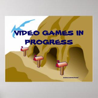 Mancaveのビデオゲーム ポスター