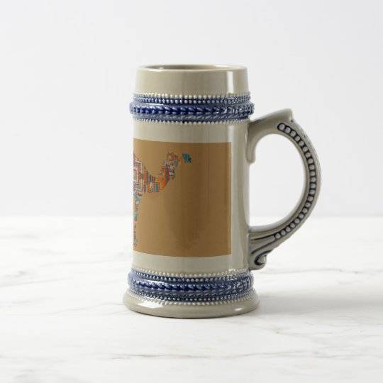 mandala camel ビールジョッキ