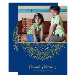 Mandala Diwali Greeting Card - Custom Color カード