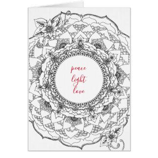 Mandala Holiday Card カード