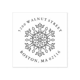Mandala Snowflake | Return Address Rubber Stamp ラバースタンプ