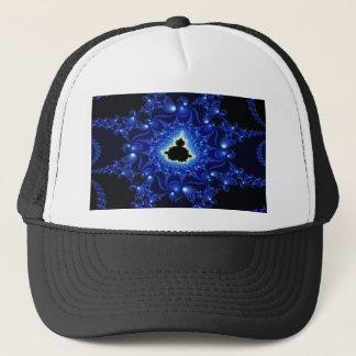 Mandelbrotの黒くおよび青のフラクタル キャップ
