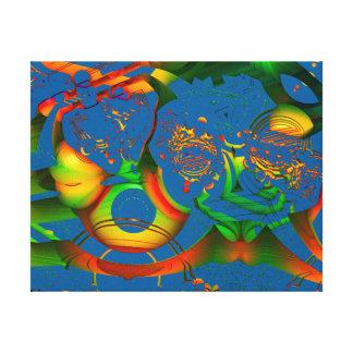MANDELBULB 3Dを集中し続けて下さい。 フラクタルの芸術IMG キャンバスプリント