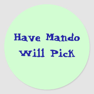 Mandoを選びます持って下さい ラウンドシール