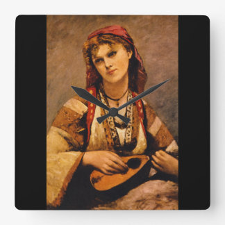 Mandolin', Jean_Portraitsのジプシー スクエア壁時計