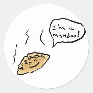 Mandooの幸せなステッカー ラウンドシール