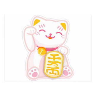 manekiのnekoのピンク ポストカード