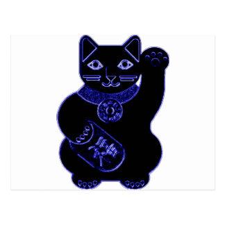 manekiのnekoの青のネオン ポストカード