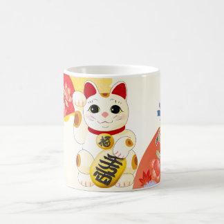 Maneki Nekoの日本のな幸運猫 コーヒーマグカップ