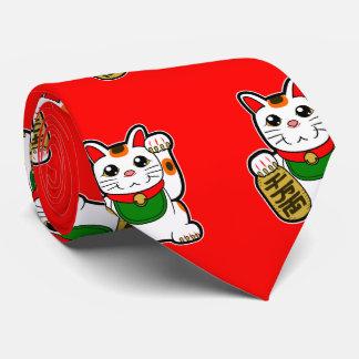 Maneki Neko: 日本ので幸運な猫 カスタムネクタイ