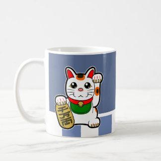 Maneki Neko: 日本ので幸運な猫 コーヒーマグカップ