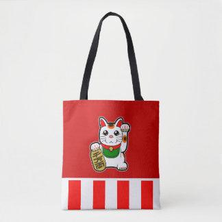 Maneki Neko: 日本ので幸運な猫 トートバッグ