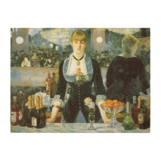 Manetのヴィンテージの芸術著Folies Bergereのバー ウッドウォールアート