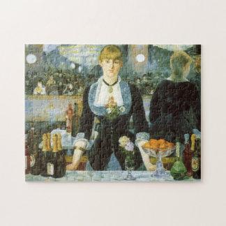 Manetのヴィンテージの芸術著Folies Bergereのバー ジグソーパズル