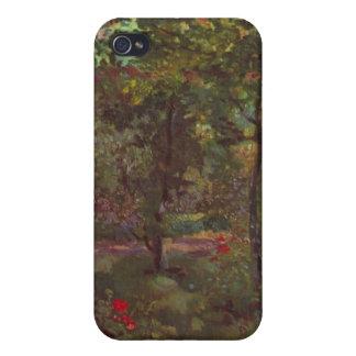 Manet著Bellevueの庭のコーナー iPhone 4/4S カバー